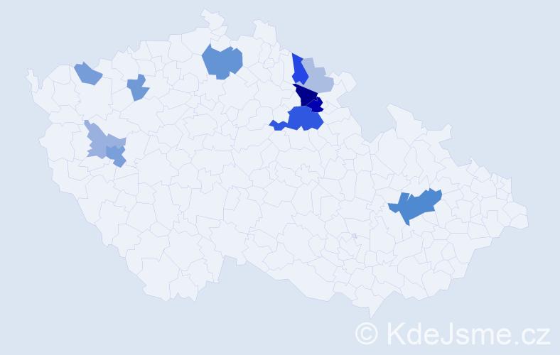 Příjmení: 'Kolovrátníková', počet výskytů 31 v celé ČR