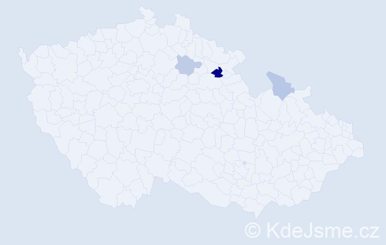 Příjmení: 'Innert', počet výskytů 6 v celé ČR