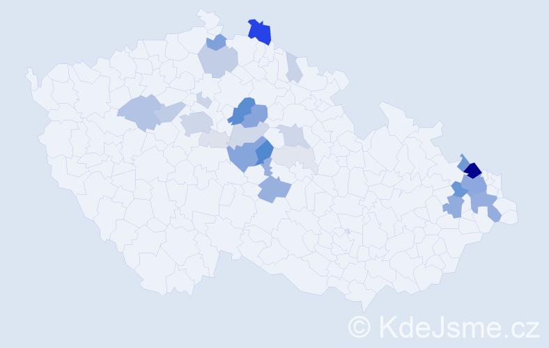 Příjmení: 'Cyrusová', počet výskytů 126 v celé ČR