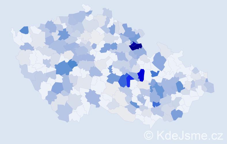 Příjmení: 'Králíček', počet výskytů 728 v celé ČR