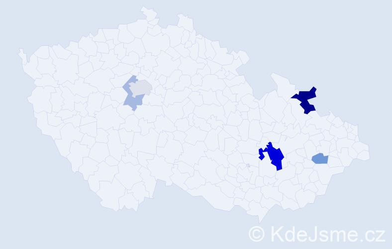 Příjmení: 'Balvanová', počet výskytů 12 v celé ČR