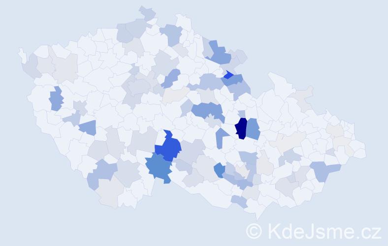 Příjmení: 'Houser', počet výskytů 347 v celé ČR