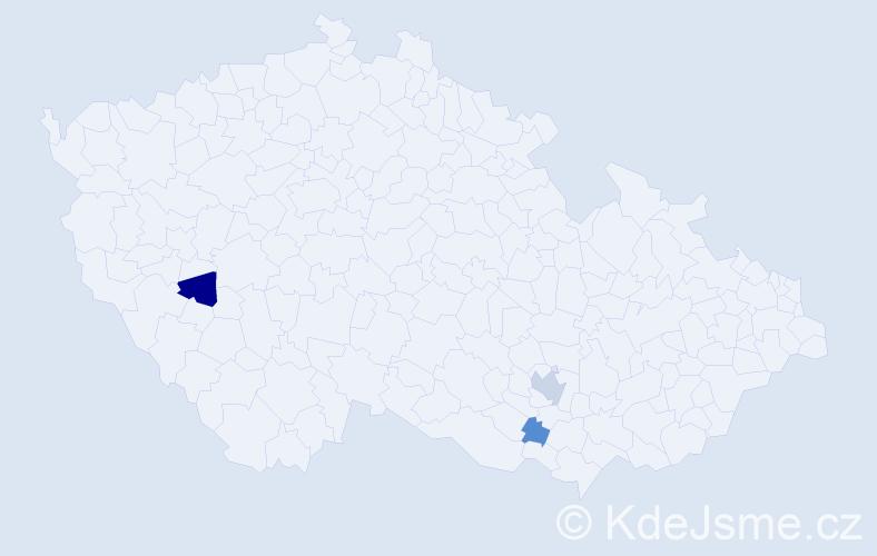 Příjmení: 'Emmertová', počet výskytů 6 v celé ČR