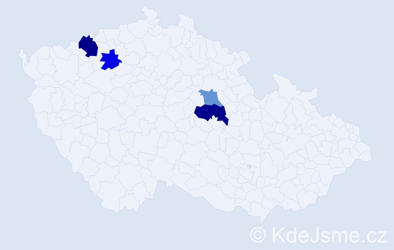 Příjmení: 'Griml', počet výskytů 6 v celé ČR