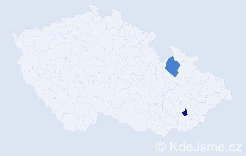 Příjmení: 'Cillová', počet výskytů 2 v celé ČR