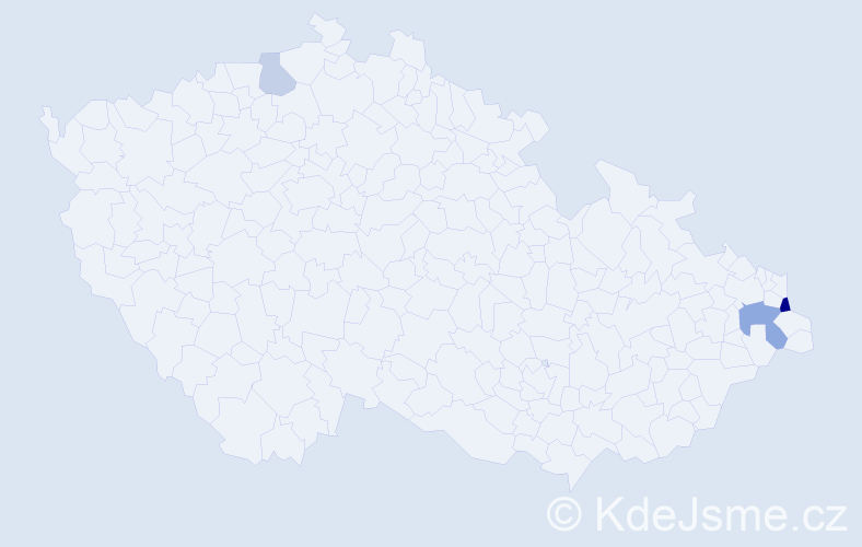 Příjmení: 'Baszczyňski', počet výskytů 6 v celé ČR