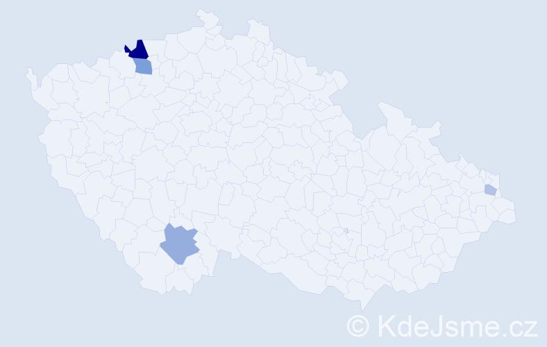 Příjmení: 'Jackowská', počet výskytů 9 v celé ČR