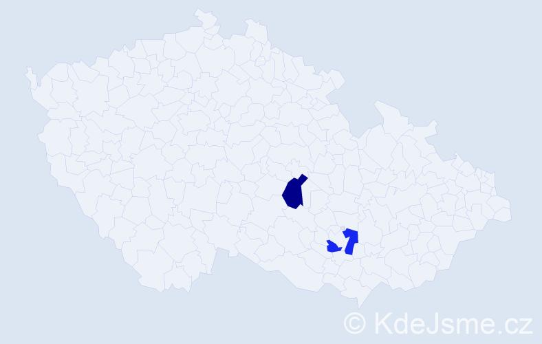 Příjmení: 'Ifrahová', počet výskytů 2 v celé ČR