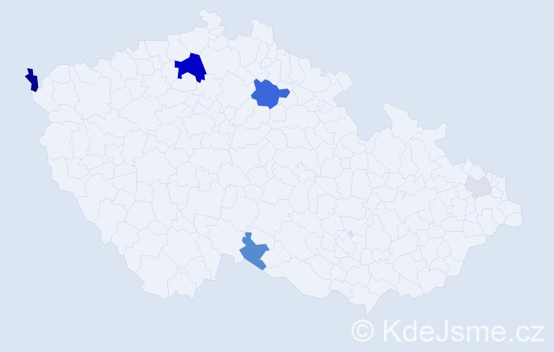 Příjmení: 'Chynoranský', počet výskytů 13 v celé ČR
