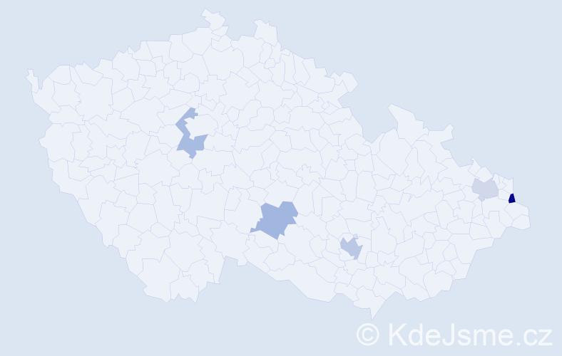 Příjmení: 'Irmlerová', počet výskytů 7 v celé ČR