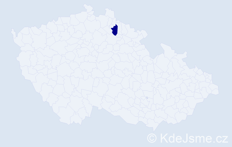 Příjmení: 'Gerlák', počet výskytů 1 v celé ČR