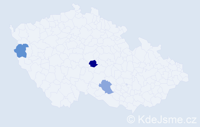 Příjmení: 'Hybšt', počet výskytů 10 v celé ČR