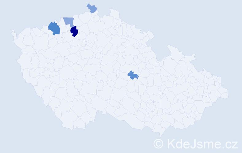Příjmení: 'Ellmrich', počet výskytů 11 v celé ČR