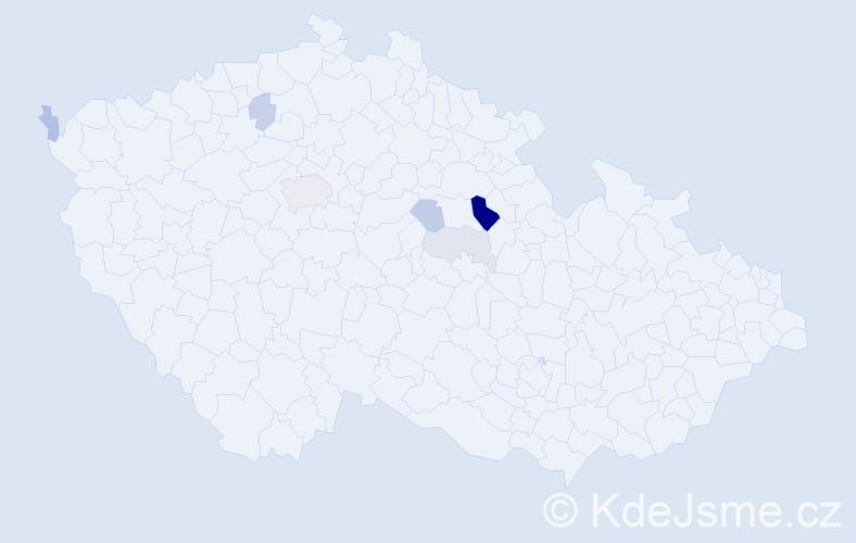 Příjmení: 'Laposová', počet výskytů 14 v celé ČR