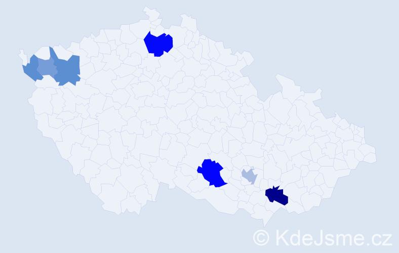 Příjmení: 'Andresík', počet výskytů 25 v celé ČR