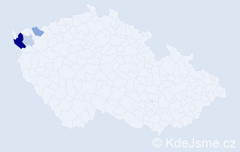 Příjmení: 'Gburová', počet výskytů 10 v celé ČR