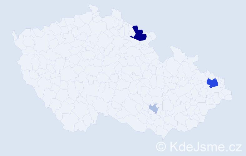 Příjmení: 'Ioanidis', počet výskytů 7 v celé ČR