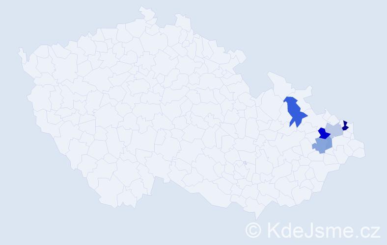 Příjmení: 'Gellnar', počet výskytů 12 v celé ČR