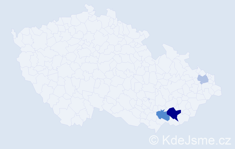 Příjmení: 'Eibensteinerová', počet výskytů 5 v celé ČR