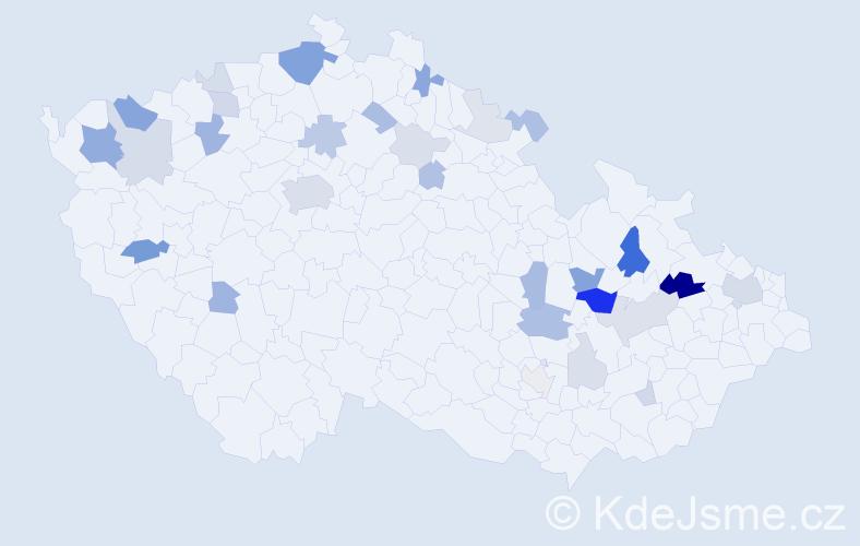 Příjmení: 'Ihnát', počet výskytů 85 v celé ČR