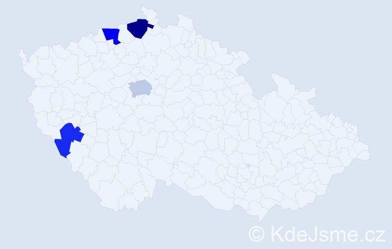 Příjmení: 'Kolin', počet výskytů 7 v celé ČR