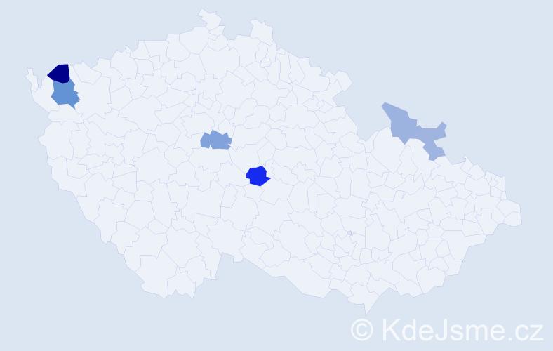 Příjmení: 'Jurcsik', počet výskytů 12 v celé ČR