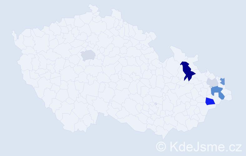 Příjmení: 'Ľalíková', počet výskytů 15 v celé ČR