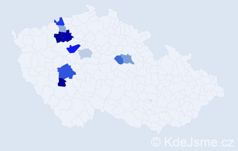 Příjmení: 'Eichelman', počet výskytů 25 v celé ČR
