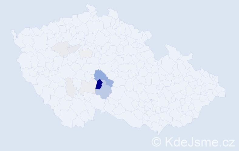 Příjmení: 'Humešová', počet výskytů 33 v celé ČR