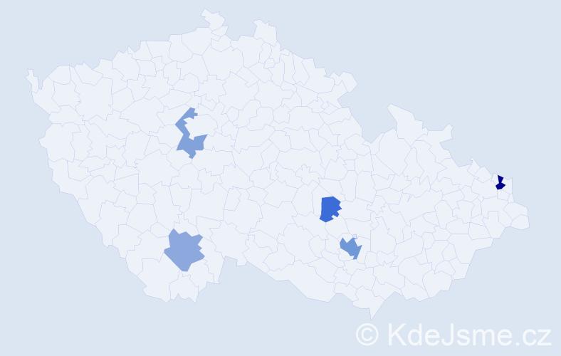 Příjmení: 'Ihm', počet výskytů 16 v celé ČR