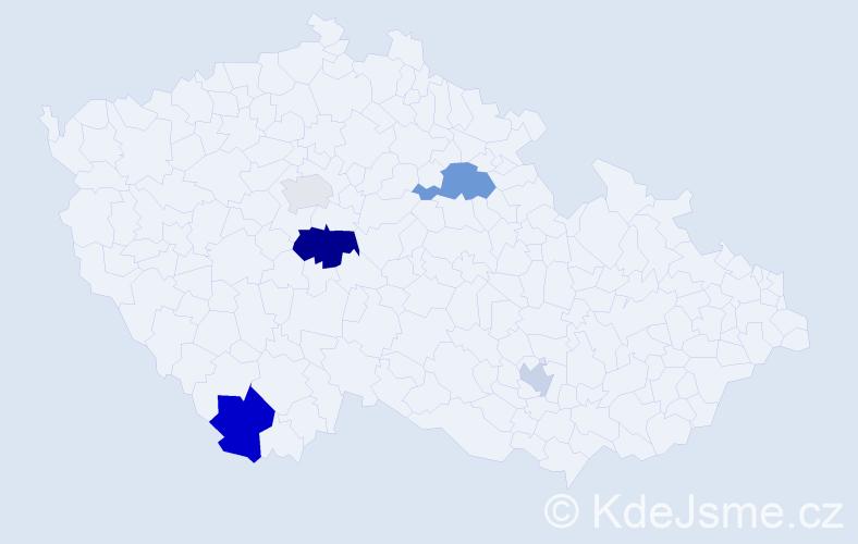 Příjmení: 'Engels', počet výskytů 9 v celé ČR