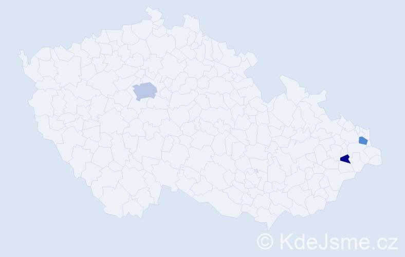Příjmení: 'Hrehovčík', počet výskytů 7 v celé ČR