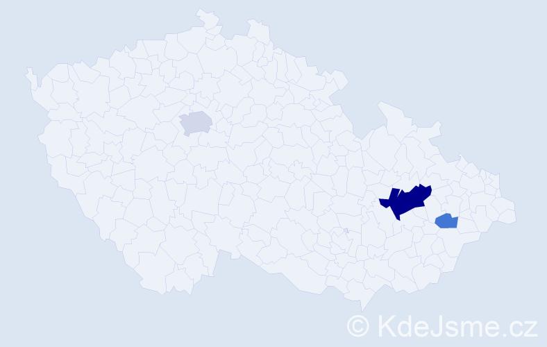 Příjmení: 'Dráč', počet výskytů 8 v celé ČR