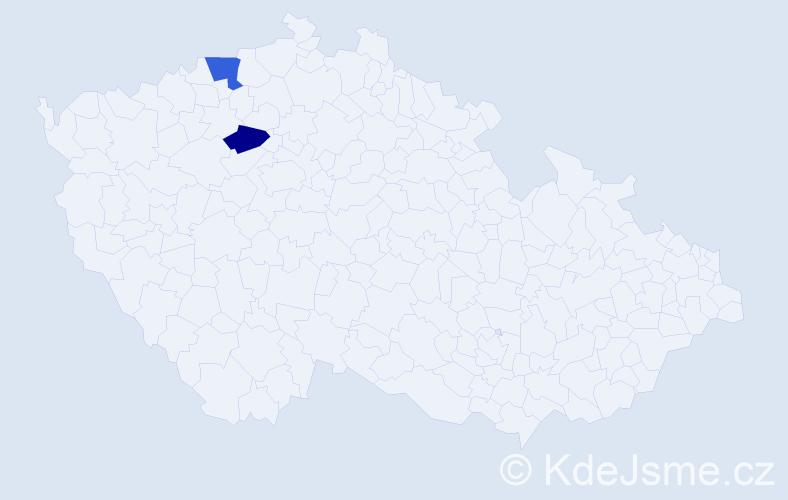 Příjmení: 'Hollovová', počet výskytů 7 v celé ČR