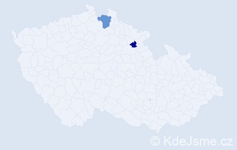 Příjmení: 'Barčinová', počet výskytů 3 v celé ČR