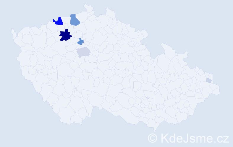 Příjmení: 'Kalach', počet výskytů 27 v celé ČR