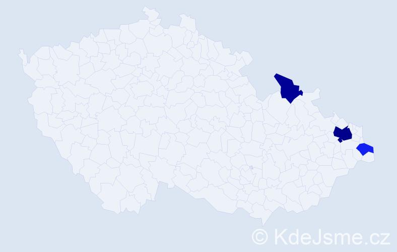 Příjmení: 'Godfrydová', počet výskytů 7 v celé ČR