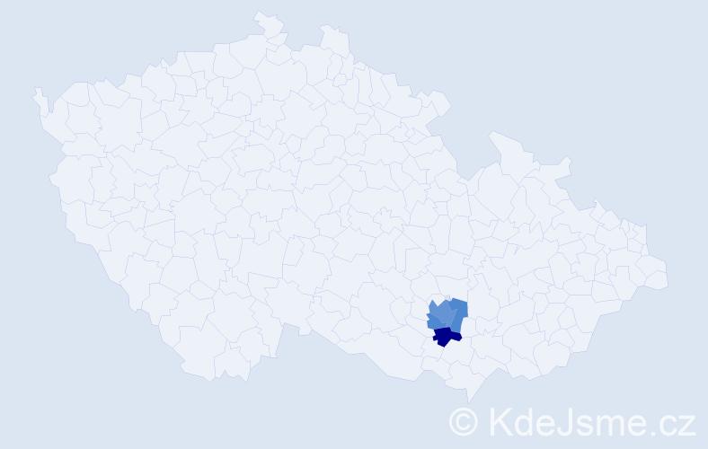 Příjmení: 'Leigeb', počet výskytů 5 v celé ČR