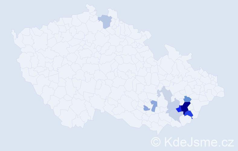 Příjmení: 'Gorec', počet výskytů 27 v celé ČR