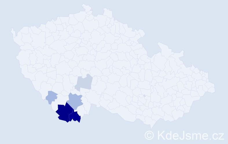 Příjmení: 'Cifreund', počet výskytů 31 v celé ČR