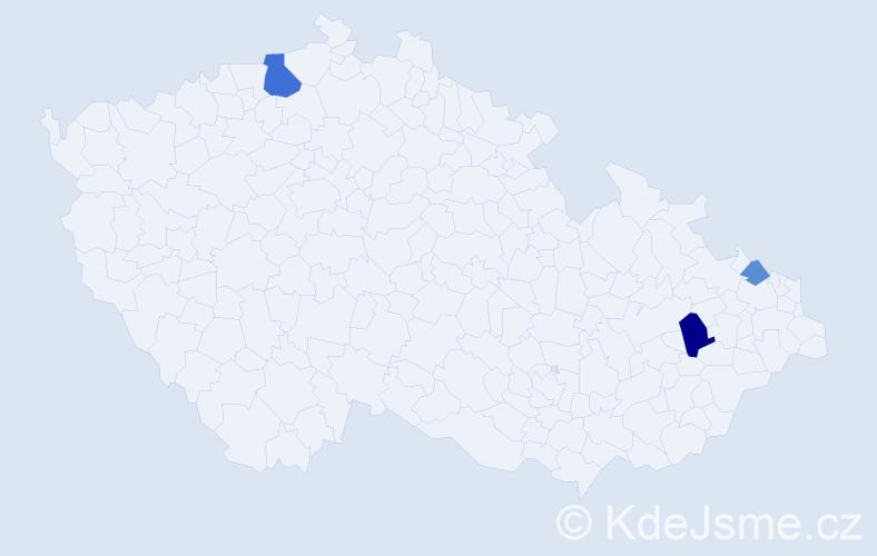 Příjmení: 'Babača', počet výskytů 6 v celé ČR