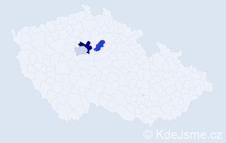 Příjmení: 'Bořan', počet výskytů 6 v celé ČR
