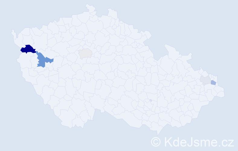 Příjmení: 'Karabín', počet výskytů 12 v celé ČR