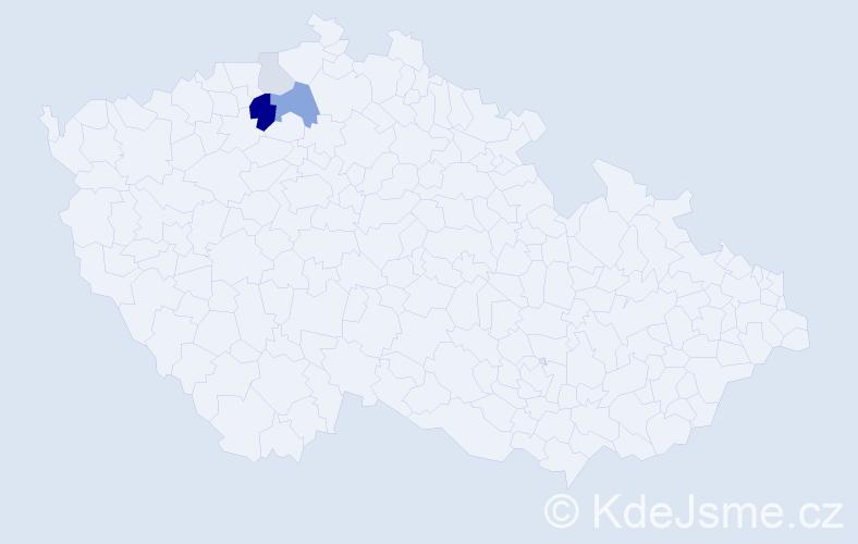 Příjmení: 'Kirbsová', počet výskytů 10 v celé ČR