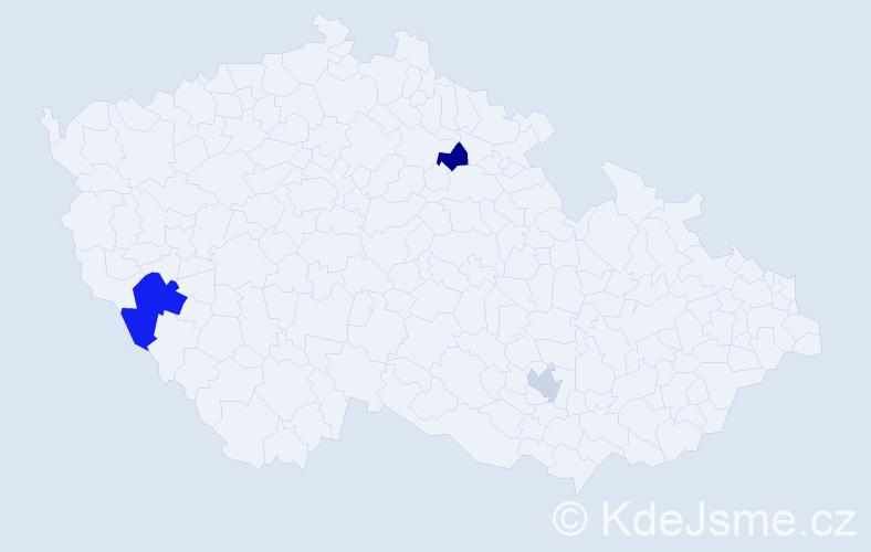 Příjmení: 'Beltran', počet výskytů 4 v celé ČR