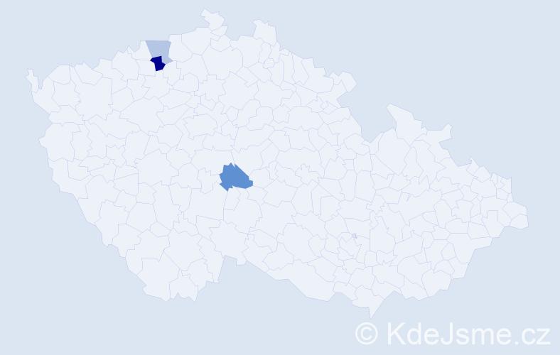 Příjmení: 'Čavdarová', počet výskytů 4 v celé ČR