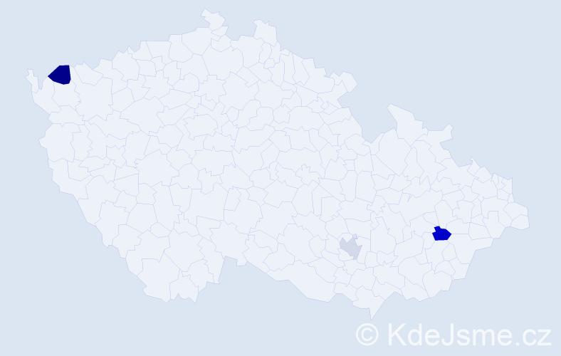 Příjmení: 'Démuthová', počet výskytů 3 v celé ČR