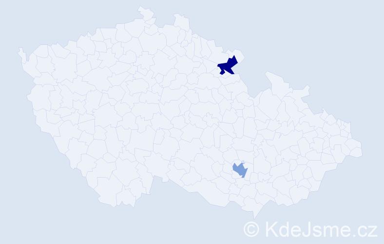 Příjmení: 'Chatzimouratidis', počet výskytů 2 v celé ČR