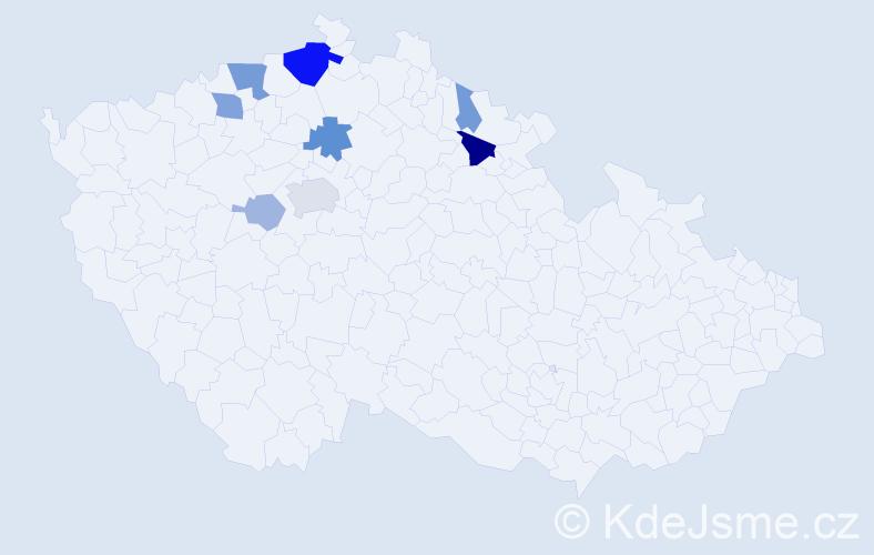 Příjmení: 'Klihavcová', počet výskytů 21 v celé ČR