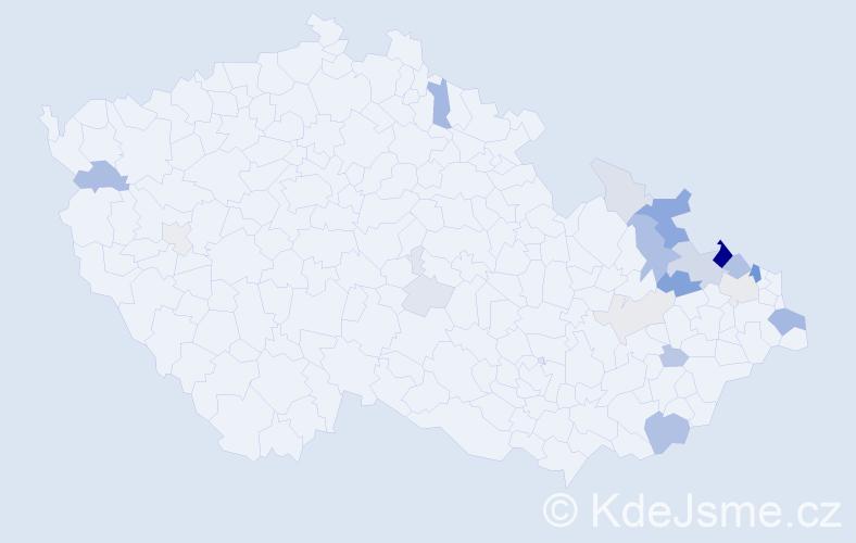 Příjmení: 'Jochim', počet výskytů 54 v celé ČR